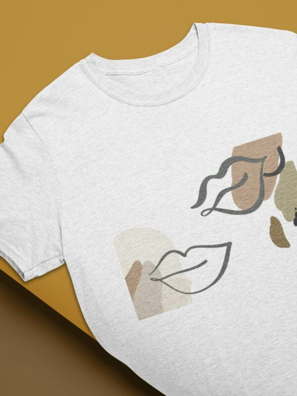 Kiss Me Softly T-Shirt in hellgrau meliert aus Bio-Baumwolle nachhaltig