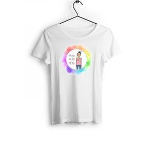 T-Shirt Primie Collection weiß mit buntem Motiv
