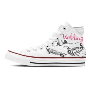 Sneaker Just married Hochzeitsschuhe weiß mit Motiv Converse oder Classic