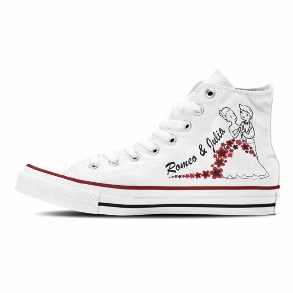 Romeo Und Julia Brautschuhe Hochzeit Sneaker Converse oder Classic
