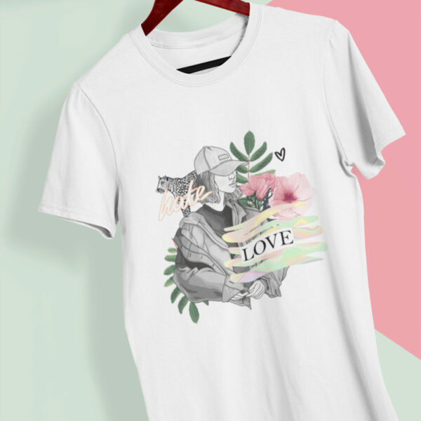 Hate Love T-Shirt weiß aus Bio-Baumwolle
