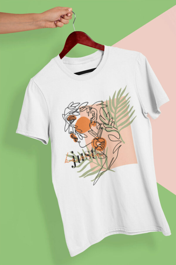 Lineart Modern T-Shirt weiß