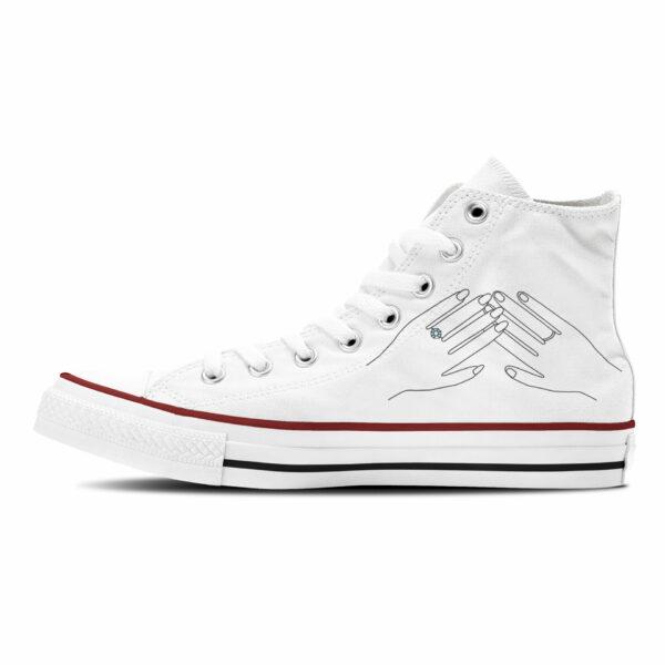Together Forever Hochzeit Sneaker Canvasschuhe Converse oder Classic in weiß