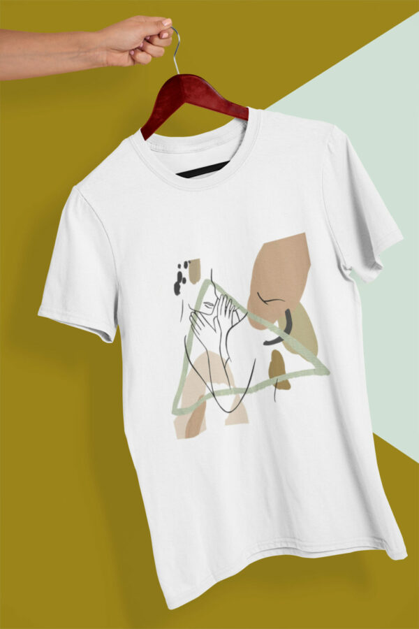 You And Me Lineart Motiv T-Shirt weiß Bio-Baumwolle